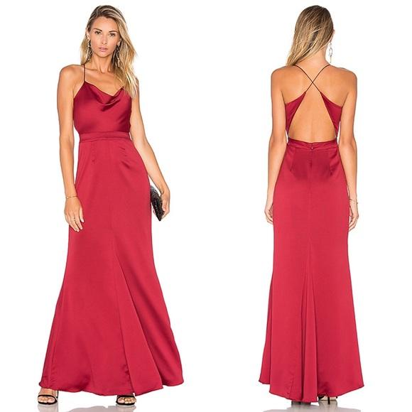 a080f153658 NBD x Revolve Red Seraphina Gown NEW. M 5bb57eb5aaa5b8350f786ffc